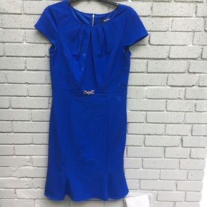 Ellen Tracy blue shift fit dress 8